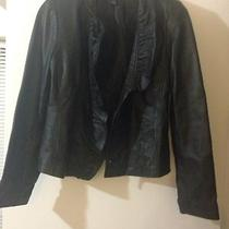 Inc Black Leather Jacket Photo