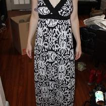 Inc Concepts Black and White Damask Maxi Dress Size Xs Nwt Photo