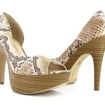 Inc International Concept Denise Natural Snake Platform Pump Womens Sz 6.5m New Photo