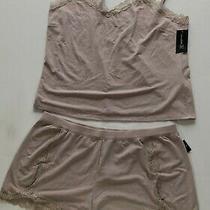 Inc International Concepts Lace-Trim Sparkle Pajama Set Sandy Blush Sizes Varies Photo