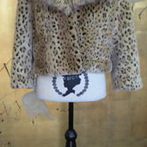 Inc International Concepts Leopard Print Faux Fur Jacket  Photo