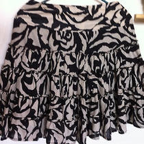 Inc International Concepts sz.2 Tribal Animal Print Ruffle Flirty Mini Skirt Photo