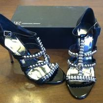 Inc International Concepts Women's Black & Silver Heels Size 8.5 M New in Box Photo