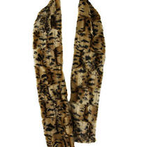 Inc International Concepts Womens Brown Faux Fur Cheetah Scarf Os 49 New Photo