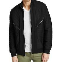 Inc Mens Jacket Black Size Small S Faux-Fur Lined Burton Quilted 99 091 Photo