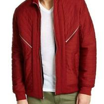 Inc Mens Jacket Red Size 2xl Flight/bomber Burton Quilted Full-Zipped 99 409 Photo