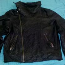 Inc Neck High Leather Jacket Photo
