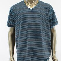 Inc New Black Blue Striped v-Neck Casual T-Shirt Top Tee Mens Size 2xl Xxl Photo