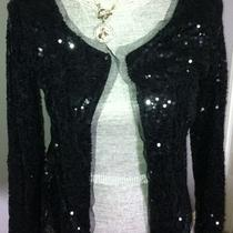 Inc New Black Sequined Long Sleeves Jacket Blazer  S  Starry Night Jcrew Looking Photo