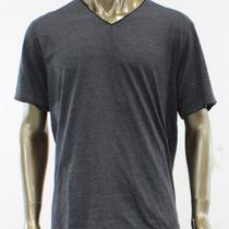 Inc New Black Solid v-Neck T-Shirt Top Tee Inner Lined Charcoal Mens Size Xl Photo