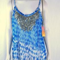 Inc New Blue White Gold Sequin Mesh Tie Dye Tank Top Cami Plus Sz 2x 18w 20w Nwt Photo