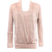 Inc New Pink Shimmer Blush Women Size Medium Pm Petite Twinset Mock Sweater 79 Photo
