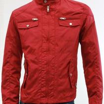 Inc New Red Mens Motorcycle Jacket Full Zip Solid Outerwear Size Medium M 69 Photo