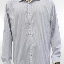 Inc New White Shirt Mens Size 2xl Casual Classic Fit Striped Button Up Top 39 Photo