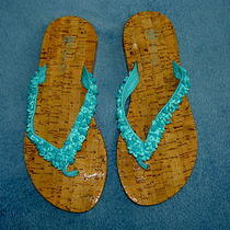 Inc Pebbles Rock Sandals Flip Flops Womens Shoes Thongs Blue 6 1/2 Photo