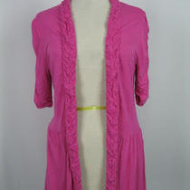 Inc Pink Ruffled Detail No Closure Shirt Top L 12/14 Photo