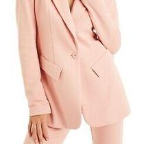 Inc Women's Blazer Blush Pink Size Xl One-Button Peak-Lapel Knit 99 163 Photo