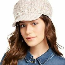 Inc Womens Blush Pink Polyester Elastic Embellished Cabbie Embroidered Cap Hat Photo
