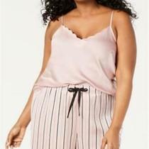 Inc Womens Plus Sleepwear Pajama Top 3x Xxxl Blush Photo