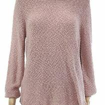Inc Womens Sweater Blush Pink Size Large L Pullover Shimmer Ribbed 79 020 Photo