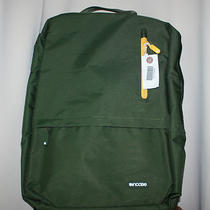 Incase Campus Backpack Rifle Green/godlden Rod New Fits Up to  15