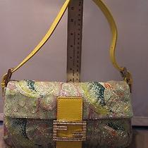 Incredible   Fendi  Handmade  Beaded   Designer Purse Handbag Msrp 375 Photo