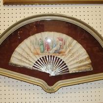 Incredible Framed Antique Mother of Pearl Victorian Era Fan Asian Chinese Photo