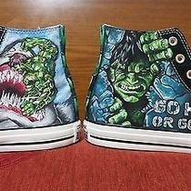 Incredible Hulk Hand Painted Vintage Converse Sneakers Shoes Custom Designed 87 Photo