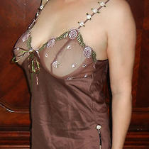 Incredibly Sexytiffany's Closet Brown Slippery Camisole Sheer Cups M  Euc Photo