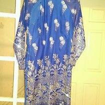 Indian Beautiful Blue and Shining Dress Photo
