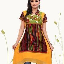 Indian Bollywood Fresh  Printed Vintage Cheap Designer Fancy Tunic Women Top  Photo