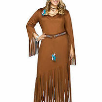 Indian Summer West Native American Pocahontas Princess Women Costume Plus 1xl Photo
