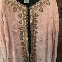 Indigo Moon Evening Jacket - 3xl - Peach/blush Beaded and Sequined - Barely Worn Photo