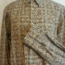Indigo Palms Tommy Bahama Brown Shirt Xl Button Front Mint Condition Long Sleeve Photo
