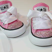 Infant 2-10 Converse Chuck Taylors W Swarovski Elements - Pink W/ Pink Crystals Photo
