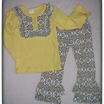 Infant 6/9months Yellow Ruffle Boutique Set Photo