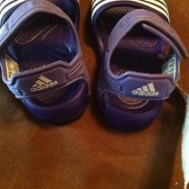 Infant Adidas Sandals Aqua/purple Sz 4 Nwt Photo