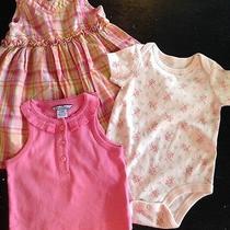 Infant Baby Girls 3-6 Month Clothing Lot of 3 Gap Hartstrings Ralph Lauren Pink Photo