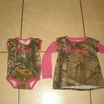 Infant Baby Girls Pink Realtree Camo Carhartt Shirt Outfit Size 6 & 24 Months Photo