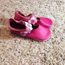 Infant/baby  Pink Leather Sandals Xl 18-24 Months Designs by Bobux Ked Photo