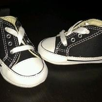 Infant Black Converse  Size 1 (0-3 Months)  Like New  Photo
