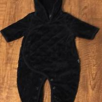 Infant Boys Baby Gap One Piece Quilted Velour Bear Bunting Suit Size 0-3 Months Photo