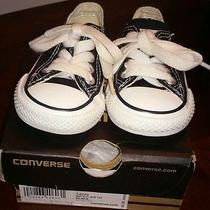 Infant Converse Athletic Shoes Low-Top Canvas Black 2 Photo