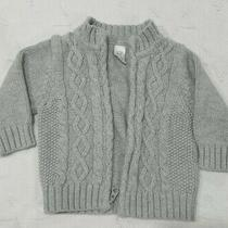 Infant Gap Grey Cardigan Sweater Size 3 to 6 Months. Photo