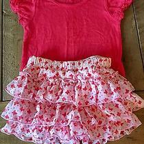 Infant Girl Ella Moss  Pink Short and Top Set  Us Size 12-18 M 2 Piece Set Photo