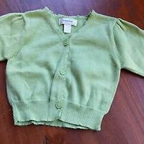 Infant Girls Baby Gap Green Cardigan Sweater Size 0-3 Months Button Down Photo