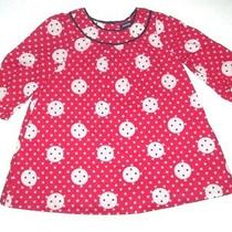 Infant Girls Baby Gap Red & Black Circle Polka Dot Dress Size 6-12 Months Photo