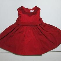 Infant Girls Jason Wu Neiman Marcus Red Crochet Lace Collar Taffeta Dress 12 Mon Photo