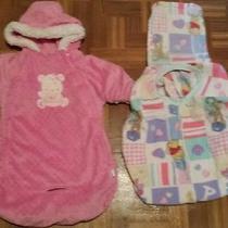 Infant Girls Sz 0-9 Months Bon Bebe Pink Snowsuit Car Bag & Car Seat Cover Euc Photo