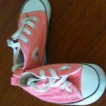 Infant Pink Converse Shoes Size 3  Photo